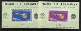 #B199# PARAGUAY MICHEL BL 89/90 MNH**, SPACE. - Paraguay