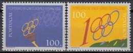 1994 (AF 2184-85) - S049 - 1º. Centenário Do Comité Olímpico Internacional - 1910-... Republic