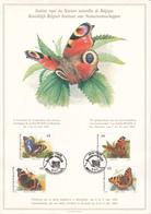 Feuillet  BUZIN - FDC Papillons - Timbres N°2503/06 - 1993- ETAT!! - 1985-.. Oiseaux (Buzin)