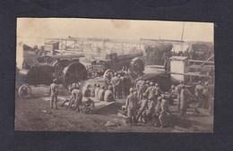 Photo Guerre 14-18 Dechargement Canon Tracteur  2. Bayer. Fussart. Regt  Archives Archen Marange Silvange - Guerre, Militaire