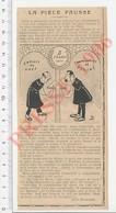 Presse 1906 Humour Numismatique Ancienne Pièce De Monnaie De 5 (cinq) Francs 1840  223XA - Vieux Papiers