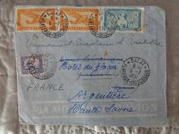 LETTRE PAR AVION 1951, DALAT PLATEAUX INDOCHINOIS, 4 TIMBRES - Viêt-Nam