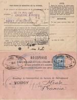 Nicaragua 1913: Post Card Recepisse To Verdun/France - Nicaragua
