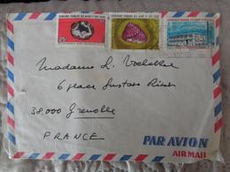 LETTRE PAR AVION 1972 , 3 TIMBRES - Afars Et Issas (1967-1977)