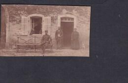 Photo Guerre 14-18 Portrait Militaire En Famille Archives Felix Archen Marange Silvange - Guerre, Militaire