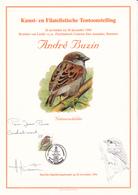 Feuillet  André BUZIN - Oiseau - Timbre N°2533 - 1994 - Dédicacé-Signé Par Buzin - 1985-.. Oiseaux (Buzin)