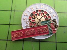 1015b Pins Pin's / Rare & De Belle Qualité  THEME : JEUX / ROULETTE SPIELBANK CASINO BADEN-BADEN - Games