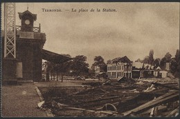 TERMONDE * DENDERMONDE * LA PLACE DE LA STATION * STATION * EDIT. A. DU CAJU-BEECKMAN * 1919 - Dendermonde