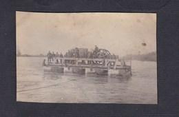 Photo Guerre 14-18 Transport  Tracteur Sur Barge  2. Bayer. Fussart. Regt  Archives Archen Marange Silvange - Guerre, Militaire