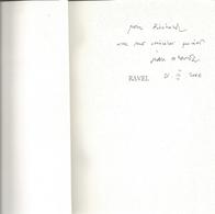 Dédicace De Jean Echenoz - Ravel - Livres, BD, Revues