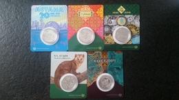 2018  Kazakhstan Kasachstan - Year Set 5 Coins - Kazakhstan