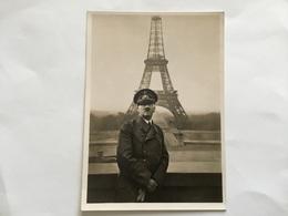 Carte Postale De Propagande Allemande Le Führer Devant La Tour Eiffel Juin 1940 Authentique - 1939-45