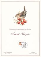 Feuillet  André BUZIN - Oiseau - Timbre N°2449 - 1992 - 1985-.. Oiseaux (Buzin)