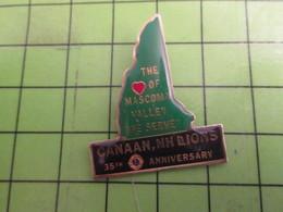 1015b Pins Pin's / Rare & De Belle Qualité  THEME : ASSOCIATIONS / CANAAN LION'S CLUB NEW HAMPSHIRE USA - Associations
