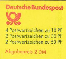 BRD Markenheftchen MH 22 Aa K1 OZ, Postfrisch **, Burgen Und Schlösser 1981 - [7] République Fédérale
