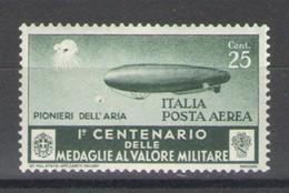 REGNO 1934 MEDAGLIE AL VALOR MILITARE  25 C. ** MNH - 1900-44 Victor Emmanuel III