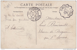 Convoyeur De Limoges à Ussel 19 - 1910 - Pour St Léonard Haute Vienne 87 Sur Cpa Paysans De Chez Nous - Poststempel (Briefe)