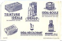 Buvard 21.1 X 13.4 Les Produits De Louis GONNET Lyon Teinture Idéale Idéalo Négrine Raviba Idéalo Idéal-décolorant - Wash & Clean