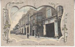 Lima (Peru) - Club Nacional, Calle Nunez - Coloured Card - Eduardo Polack, Lima - Pérou