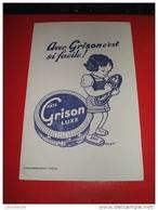 BUVARD PATE GRISON - ENFANT CIRAGE CHAUSSURES - ILLUSTRATEUR COZIER- CHAMBRELENT PARIS - Chaussures