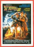 CINEMA-CARTOLINA MANIFESTO FILM-RITORNO AL FUTURO-PARTE III-M.J.FOX-CHRISTOPHER LLOYD-M.STEENBURGEN - Manifesti Su Carta