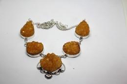 Collana Di Druzy Colore Giallo Arancio Misura Cm. 51 - Colliers/Chaînes