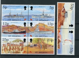St. Helena 4 Paare MiNr. 657-664 Postfrisch MNH Schiffe (Schif128 - Sainte-Hélène