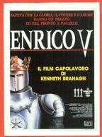 CINEMA-CARTOLINA MANIFESTO FILM-ENRICO V°-KENNETH BRANAGH-PAUL SCOFIELD-BRIAN BLESSED - Manifesti Su Carta