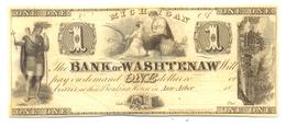 1 DOLLAR MICHIGAN BANQUE DE WASHTENAW 1837 - Michigan