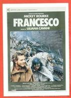 CINEMA-CARTOLINA MANIFESTO FILM-FRANCESCO-MICKEY ROURKE-HELENA BONHAM CARTER-PAOLO BONACELLI - Manifesti Su Carta