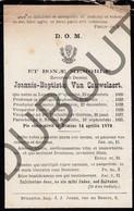 Doodsprentje Pater/Frère Joannis-Baptiste Van Cauwelaert °1809 Lenniaco StQuintini †1879 Bruxelles/Ixelles/Malines(F123) - Décès