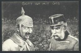 """+++ CPA - Militaria - Guerre - Soldat Allemand - Armée - """" Gott Ist Mit Uns """" - Illustrateur ?  // - Guerre 1914-18"""