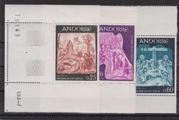 ANDORRE FRANCAIS 1967-78:  Joli Lot De Timbres 'grand Format', Neufs (3 Scans) - Andorre Français