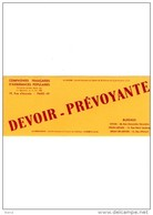 ASSURANCE / DEVOIR / PREVOYANCE PARIS /19EME - Vloeipapier