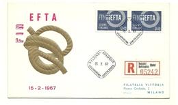 1967 - Finlandia 589 EFTA FDC, - Finlandia