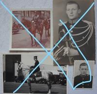 Photox4 GENDARMERIE RIJKSWACHT Gendarme Cavalier Portrait Sabre 40's/50's - Métiers