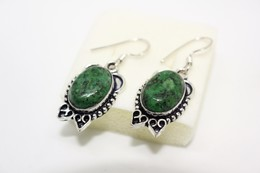 Orecchini Rubino Zoisite Verde - Colliers/Chaînes