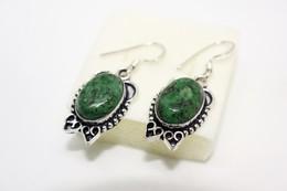 4064 - Orecchini Rubino Zoisite Verde - Earrings