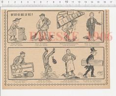 Presse 1906 Humour Oublies (sans Marchand) Métier Charpentier Commissionnaire Tanneur Croque-mort 223CHV3 - Vieux Papiers