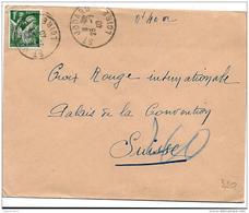 43-33 - Enveloppe Envoyée De St Jodard/Loire Au Service Prisonniers De Guerre Croix-Rouge Genève 1940 - 2. Weltkrieg