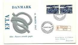 1967 - Danimarca 457a EFTA Fdc - FDC