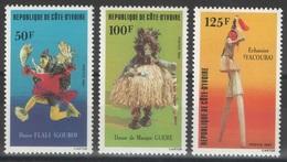 Côte D'Ivoire - YT 663-665 ** - 1983 - Danses - Côte D'Ivoire (1960-...)
