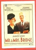 CINEMA-CARTOLINA MANIFESTO FILM-MR. AND MRS. BRIDGE-PAUL NEWMAN-JOANNE WODDWARD-ROBERT SEAN - Manifesti Su Carta