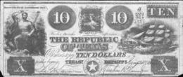 10 DOLLARS REPUBLIQUE DU TEXAS 1840 - Texas