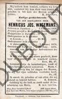 Doodsprentje Pater/Frère Henricus Jos Wagemans °1838 Turnhout †1876 Turnhout Mechelen/Leuven/Antwerpen (F124) - Décès