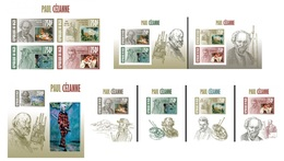 Niger 2013, Art, Paul Cezanne, 4val In BF+7BF IMPERFORATED - Niger (1960-...)