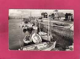 14 Calvados, Courseulles-sur-Mer, Le Port Et Le Quai Des Alliés, Bateaux De Pêche, Voitures, 1960, (Gaby) - Courseulles-sur-Mer