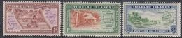 Tokelau 1948 - Definitive Stamps: Native, Maps, Coast, Palms - Mi 1-3 ** MNH - Tokelau