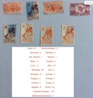 Lot De 176 Timbres Oblitérés De Provenance Diverses (avec Doublons) : Suisse-Grande Bretagne-Danemark- Pays Bas-Nlle  Zé - Timbres