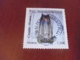 OBLITERATION RONDE  SUR TIMBRE GOMME ORIGINE FRANCE CROATIE - France